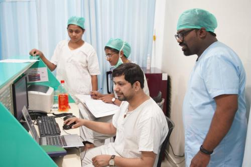 RMO doctor duty in OT